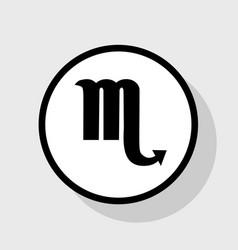 scorpio sign   flat black icon vector image