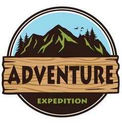 adventure mountain expedition camping logo vector image