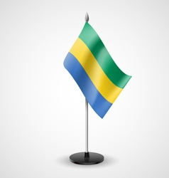 Table flag of gabon vector