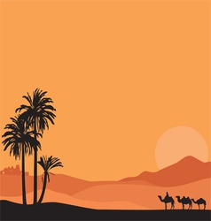 Background with desert vector