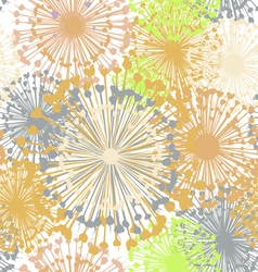 Floral summer seamless pattern vector image
