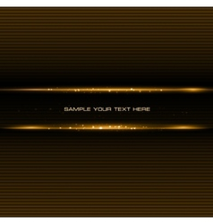 Abstract dark background with gold color light vector