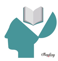 Reading design vector
