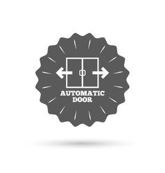 Automatic door sign icon auto open symbol vector