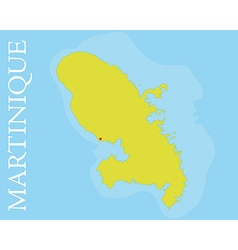 Archipelago and department of martinique map vector