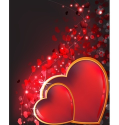 Sparkling valentines day hearts vector
