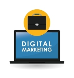Flat about digital marketing design vector