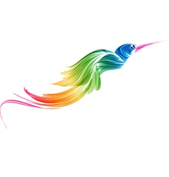 Abstract stylized flying bird vector