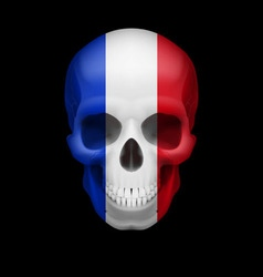 French flag skull vector