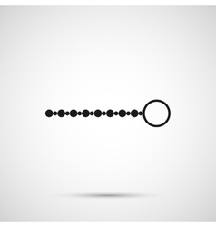 anal beads isolated on white background vector image
