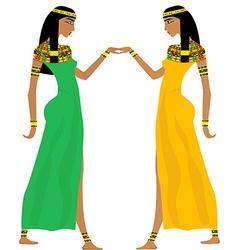 Ancient egyptian women dancing vector