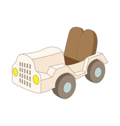 Car at the airoport icon cartoon style vector