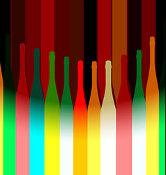Colored background with bottles vector image vector image