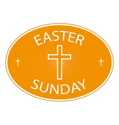 Easter sunday banner with cross symbol vector