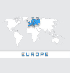 Europe on the map vector