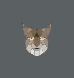 Geometric head lynx vector