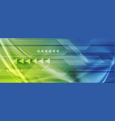 green blue abstract technology digital background vector image