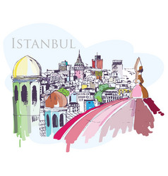 Istanbul drawing vector image vector image