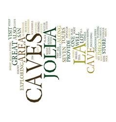 La jolla caves text background word cloud concept vector