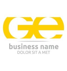 Letter g e alphabet element icon vector