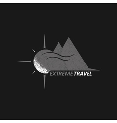 Logo extreme travel vector