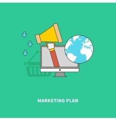 Marketing advertise of product on global scale vector
