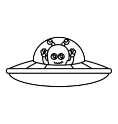 Martian flying in the ufo vector