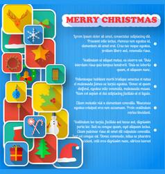 Merry christmas greeting card vector