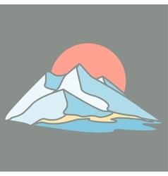Mountain island The dark background vector image