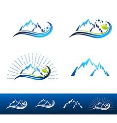 Mountain Resort Logo Design vector image