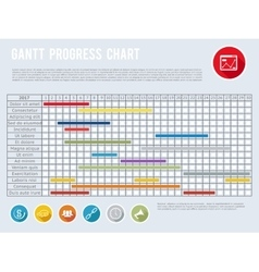 Project schedule chart or progress planning vector