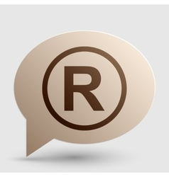 Registered trademark sign brown gradient icon on vector