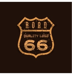 Road sign Highway 66 high-quality brand-name vector image vector image