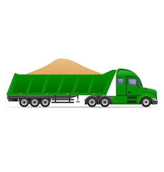 Semi truck trailer concept 11 vector