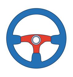 Steering wheel car auto control icon vector