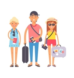 Summer vacation people vector image