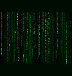 technology binary background vector image vector image