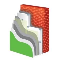 Thermal insulation polystyrene isolation vector