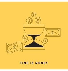 Time is money concept vector