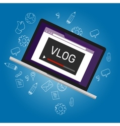 vlog video blogging online vector image