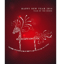 Year of the Horse greeting card vector image