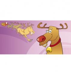 red nose reindeer vector image