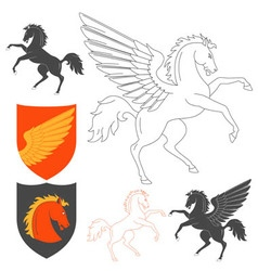 Pegasus and horse vector