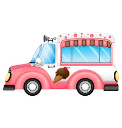 An ice cream car vector