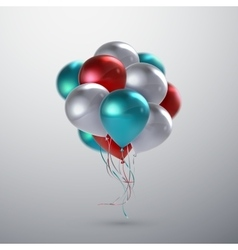 Realistic glossy balloons vector