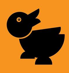 duck Flat in floor vector image