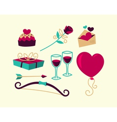 Valentines day things vector