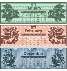 Calendar 2014 winter vector