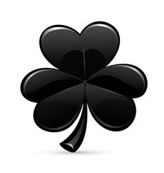 St patricks day trefoil black vector