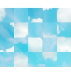 Beautiful cloudscape vector